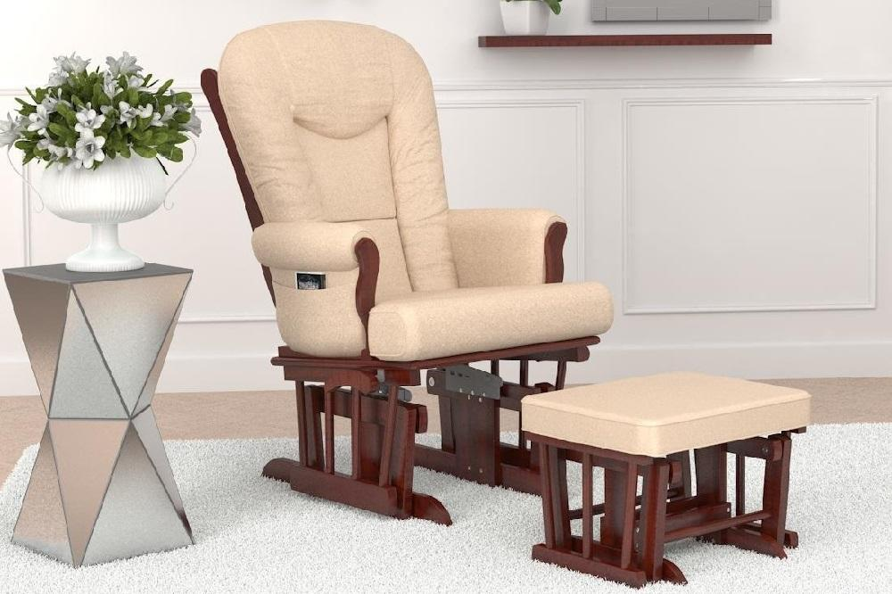 Glider Chair With Ottoman: Naomi Home Deluxe Multiposition Sleigh Glider And Ottoman