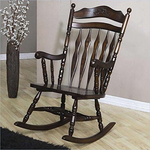 brown rocking chairs